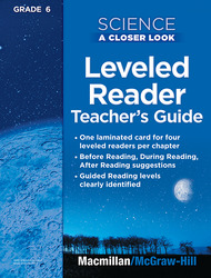 Science, A Closer Look, Grade 6, Science Leveled Reader Teacher's Guide'
