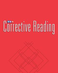 Corrective Reading Comprehension Level B1, Blackline Masters