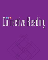Corrective Reading Comprehension Level B2, Blackline Masters
