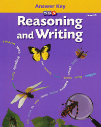 Reasoning and Writing Level D, Additional Answer Key