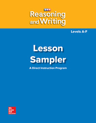 Reasoning and Writing Levels A-F, Lesson Sampler