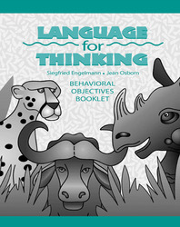 Language for Thinking Grades 1-3, Behavioral Objectives Book