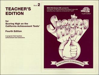 Scoring High on the California Achievement Tests (CAT), Grade 2 Teacher Edition