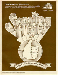 Scoring High on the California Achievement Tests (CAT),  Student Edition Grade 4