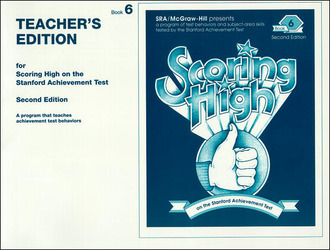 Scoring High on the SAT/9, Teacher Edition, Grade 6