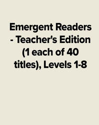 Emergent Readers  - Teacher's Edition (1 each of 40 titles), Levels 1-8'