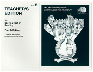 Scoring High in Reading 4th Edition Grade 5 Teacher Edition