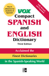 Vox Compact Spanish & English Dictionary, 3E (HC)