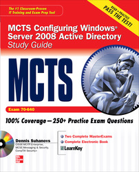 MCTS Windows Server 2008 Active Directory Services Study Guide (Exam 70-640) (SET)
