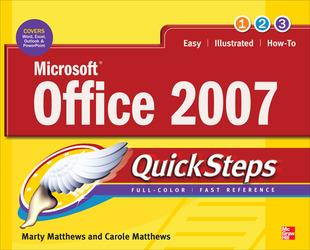 Microsoft Office 2007 QuickSteps