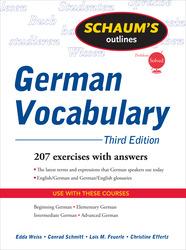 Schaum's Outline of German Vocabulary, 3ed