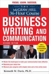 The McGraw-Hill 36-Hour Course in Business Writing and Communication, Second Edition