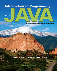 Introduction to Programming with Java: A Problem Solving Approach