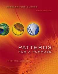 Patterns for A Purpose: A Rhetorical  Reader