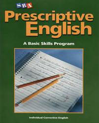 Prescriptive English, Student Edition Book A
