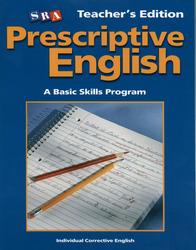 Prescriptive English, Teacher Edition Book C