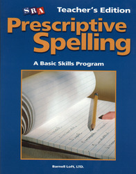 Prescriptive Spelling, Teacher Edition Book C