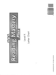 Reading Mastery K 2001 Plus Edition, Letter Chart
