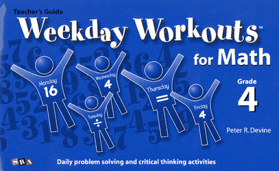 Weekday Workouts for Math, Teacher Guide Grade 4