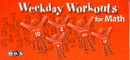 Weekday Workouts for Math, Student Booklet 10-Pack Grade 1