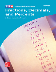 Corrective Mathematics Fractions, Decimals, and Percents, Additional Answer Key