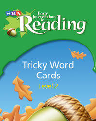Early Interventions in Reading Level 2, Tricky Word Cards (Pkg. of 50)