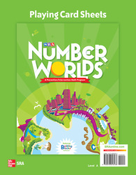 Number Worlds Level A, Playing Card Sheets