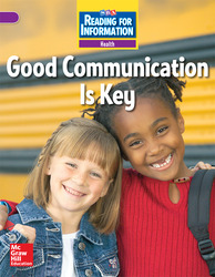 Reading for Information, Above Student Reader, Health - Good Communication is Key, Grade 3