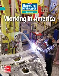 Reading for Information, On Level Student Reader, Economics - Working in America, Grade 4