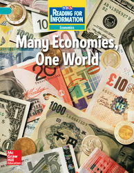 Reading for Information, Above Student Reader, Economics - Many Economies, One World, Grade 6