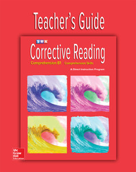 Corrective Reading Comprehension Level B1, Teacher Guide