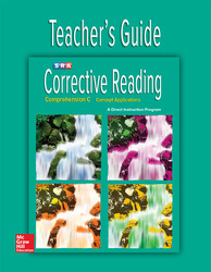 Corrective Reading Comprehension Level C, Teacher Guide