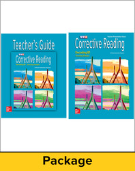 Corrective Reading Decoding Level B1, Teacher Materials Package