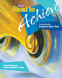 Read to Achieve: Comprehending Content Area Text, Professional Development Guide