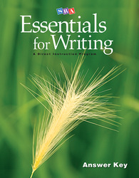 SRA Essentials for Writing Answer Key