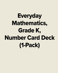 Everyday Mathematics, Grade K, Number Card Deck (1-Pack)