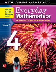 Everyday Mathematics, Grade 4, Journal Answers Teacher Book Volume 2