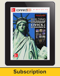 Building Citizenship: Civics and Economics, Student Learning Center, 1-Year Subscription