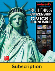 Building Citizenship: Civics and Economics, Teacher Lesson Center, 1-Year Subscription