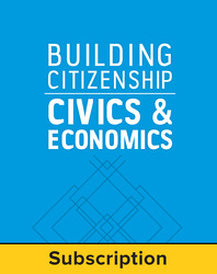 Building Citizenship: Civics and Economics, Complete System- Student (print and digital), 1-Year Subscription