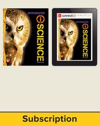 Glencoe iScience, Integrated Course 3, Grade 8, Digital & Print Student Bundle, 1-year subscription