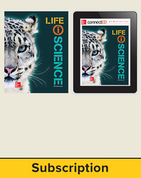 Glencoe Life iScience, Grade 7, Digital & Print Student Bundle, 1-year subscription