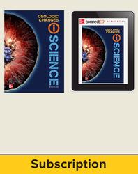 Glencoe Earth & Space iScience, Grade 6, Digital & Print Student Bundle, 6-year subscription