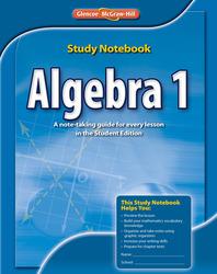 Algebra 1, Study Notebook