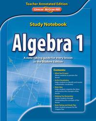 Algebra 1 Study Notebook, Teacher Annotated Edition