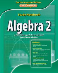 Algebra 2 Study Notebook, Teacher Annotated Edition