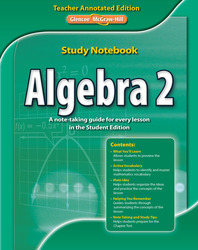 Algebra 2 Study Notebook, Teacher Annotated Edition