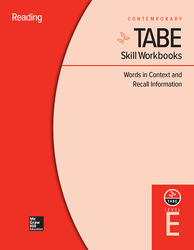 TABE Skill Workbooks Level E: Words in Context and Recall Information (10 copies)