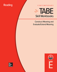TABE Skill Workbooks Level E: Construct Meaning and Evaluate/Extend Meaning (10 copies)