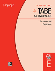 TABE Skill Workbooks Level E: Sentences and Paragraphs (10 copies)